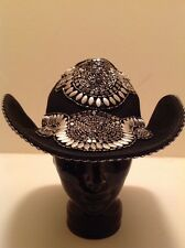 """Western Cowgirl """"Whittall & Shon"""" Black With Silver Studs & Beads Very Stunning!"""