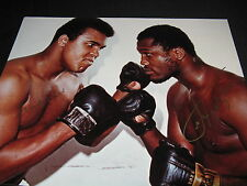 Muhammad Ali vs. Joe Frazier Signed 16x20 Photo GAI