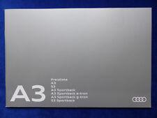 Audi A3 S3 Sportback e-tron g-tron - Preisliste - Prospekt Brochure 08.2016