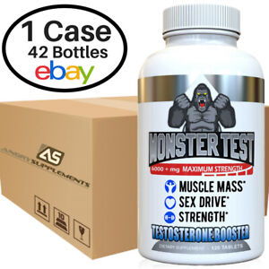 Testosterone Booster, Monster Test Wholesale Price Case of 42 Bottles (120 ct)