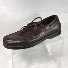 Rockport Men's Boat Shoes Brown Leather Size 9.5 M