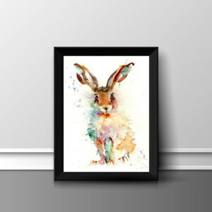 RABBIT HARE PRINT PICTURE POSTER PHOTO WALL ART HOME DECOR UNFRAMED A4 GIFT NEW