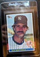 1985 DONRUSS #295 DON MATTINGLY 2ND YEAR NEW YORK YANKEES MVP MINT