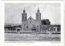 "+PC-Postcard-""Church of San Felipe de Neri""-Old Town-1861-Albuquerque, NM (A1-2)"