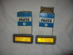 NOS Mopar 1969 Plymouth Barracuda Fury Front Side Markers