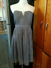 j.Crew dress size P8 gray strapless above knee length 100%silk NWTs