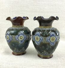 Antique Doulton Lambeth Pottery Vases Hayward Forster Waters Victorian Stoneware