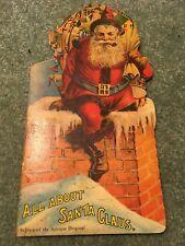 Vintage  Book, All About Santa Claus, replica of the antique original