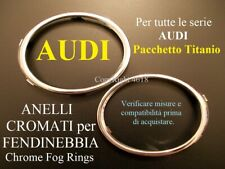 AUDI CORNICI FENDINEBBIA A3 A4 A5 A6 Q3 Q5 SLINE Cerchi Anelli Chrome Fog Rings
