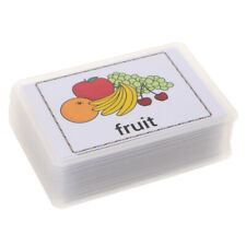 80Pcs Kids Pocket English Sight/Picture Word Flash Cards for Food