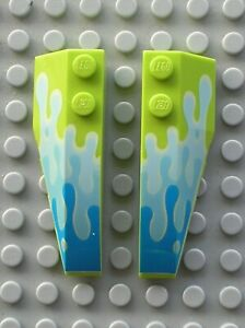 LEGO Toy Story Lime Wedge 6x2 Left & Right Ref 41748pb030 41747pb030 Set 7590