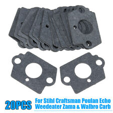 20 Pcs Carburetor Rebuild Gaskets Kit Fit For Stihl Craftsman Poulan Zama Walbro