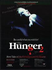 THE HUNGER__Original 1998 Trade AD / TV Series promo__RIDLEY SCOTT__David Bowie