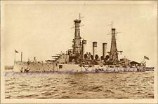 1911 US Navy USS Virginia BB-13 Battleship Port Broadside Photogravure Print