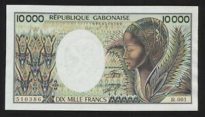 Republique Gabonaise  10000 Francs Serie R.001  Dix Mille Francs  A--UNC  ( 998