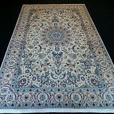 Orient Teppich Nain 280 x 172 cm Perserteppich Beige Seide Silk Carpet Rug Tapis