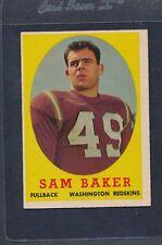 1958 Topps #034 Sam Baker Redskins EX *982