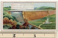 Croton Dam  Spillway New York  City Water Supply  100  Y/O Ad Trade Card