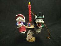 OUR CHRISTMAS TOGETHER COUPLE MICE MOUSE CANDLESTICK CHRISTMAS TREE ORNAMENT