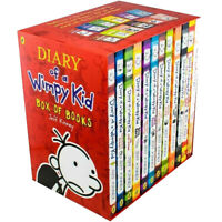 Diary of a Wimpy Kid Collection 12 Books Set By Jeff Kinney Old School,Long Haul