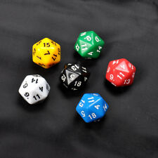6 Set D20 Gaming Dice Twenty Sided Die RPG D&D Six Opaque Colors F1