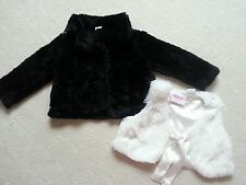 AS NEW!!!! Girl's Fur Jacket & Vest, Size 2 in Fabulous Condition
