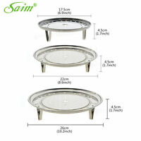 3pcs Kitchen Stainless Steamer Rack Insert Stock Pot Steaming Cookware Tools
