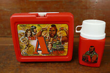 Vintage 1983 The A Team Plastic Lunch Box & Thermos - Nice Shape