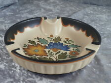 Gouda Plateel Keramik Flora Aschenbecher Schale Holland Handwerk