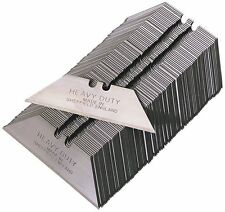100 x HEAVY DUTY STANLEY KNIFE BLADES MADE IN SHEFFIELD FOR DELPHIN CARPET TOOL