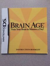Brain Age Nintendo DS Instruction Manual Booklet Only