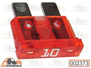 2 FUSIBLES 10 ampères (10A FUSE) pour Peugeot 205 309 405 605  -2373-