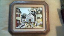 "H. Hargrove Painting 8"" X 10"" Framed 15"" X 13 1/4"" School House Children/ Homes"