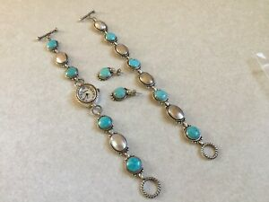 Retired / Vintage Carolyn Pollack 'Good Fortune' Turquoise Mother of Pearl Set