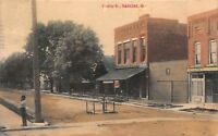 Hand Colored Postcard Findlay Street in Haskins, Ohio~117600