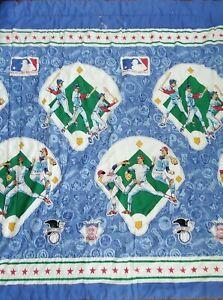 Vintage 1991 MLB National American League Teams Full Comforter 85x70 VTG Bedding