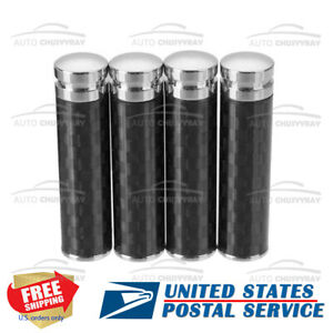 4Pcs Black Carbon fiber Universal Car Truck Interior Door Lock Knob Pull Pin