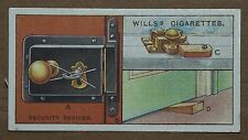 VINTAGE WILLS CIGARETTE CARDS HOUSEHOLD HINTS SECURITY DEVICES No # NUMBER 40