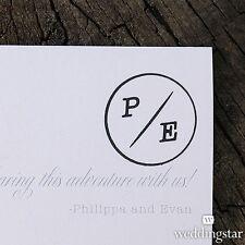 Personalized Wanderlust Monogram Rubber Stamp DIY Wedding Favor Decoration