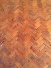 Reclaimed Church Hall Pitch Pine Parquet Flooring