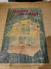 Vintage Asian Style Bamboo Wood Hanging Bird Cage .new kit.2 story.