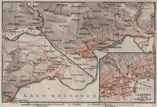 Losone Gordola Muralto Brione Locarno Area Switzerland Suisse Schweiz 1906 Map