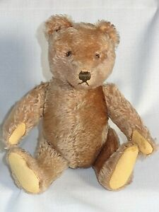 Antique Brown Mohair Teddy Bear with Jointed Limbs and Head