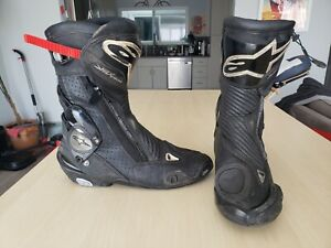 Alpinestars SMX Plus Vented Boots - Black And White - Size 43 - Sz 9 US