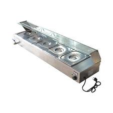 NEW 110V1500W 5-Pan Steamer Bain-Marie Buffet Countertop Food Warmer Steam Table