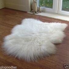 High Grade Natural Soft & Long Icelandic Sheepskin Rug - Extra Long Wool