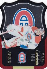 "2015-16 OPC Platinum ""Team Logos"" Carey Price hockey subset card"