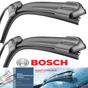 "BOSCH BEAM Wiper Blades 20"" + 20"" Set of 2 ""Clear Advantage"" Front Left & Right"