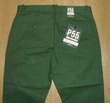 Original Penguin P55 Stretch Slim Sycamore Green Chino Trousers W32 L32 New