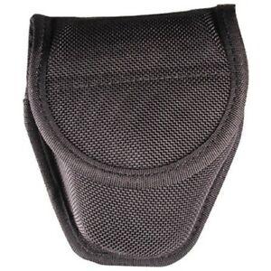 Bianchi 18771 Black 7317 Accumold Double Handcuff Cuff Case Hidden Snap Pouch